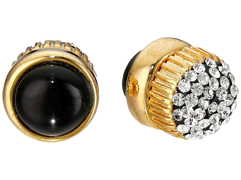 Marc by Marc Jacobs - Pave Cabochon Magnetic Stud Earrings (Black Multi) Earring
