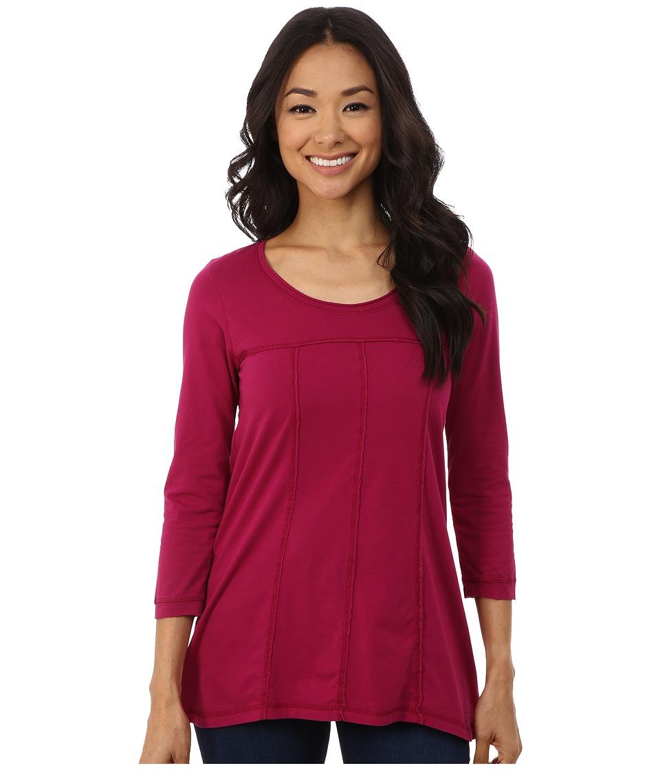Mod-o-doc - Classic Jersey 3/4 Sleeve Seamed Scoopneck Tee (Vino) Women's T Shirt