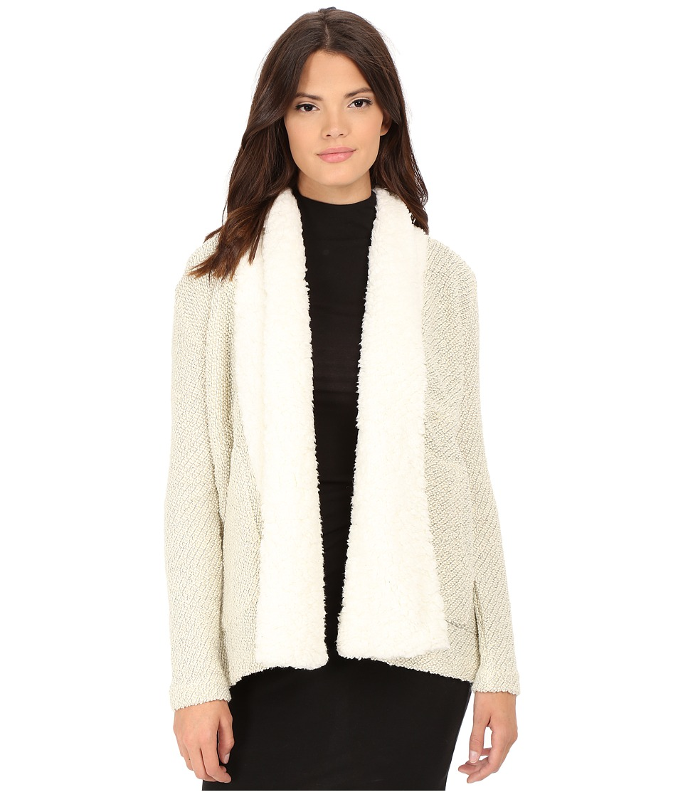 Jack by BB Dakota - Acton Lurex French Terry and Wubby Collar Jacket (Whisper White) Women's Coat