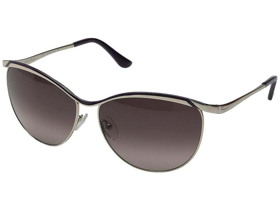 Salvatore Ferragamo - SF147S (Shiny Gold/Black) Fashion Sunglasses