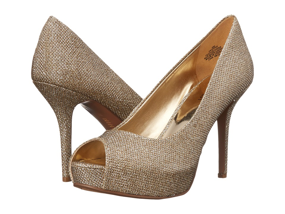 Nine West - Qtpie (Gold Fabric) Women's Shoes