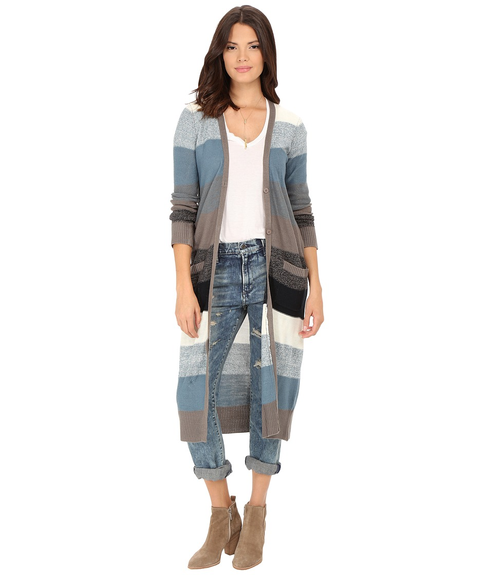 Jack by BB Dakota - Case Stripe Marled Duster Cardigan (Multi) Women