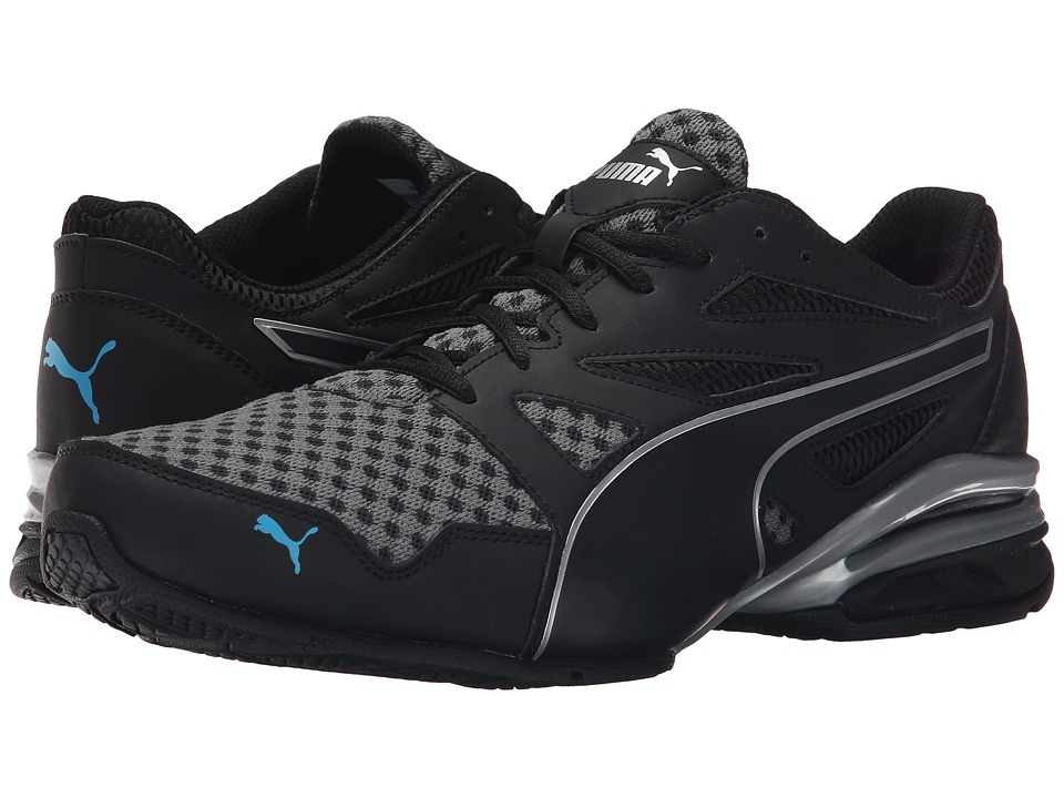 PUMA - Tazon Modern NM (Black/Puma Silver/Atomic Blue) Men's Running Shoes