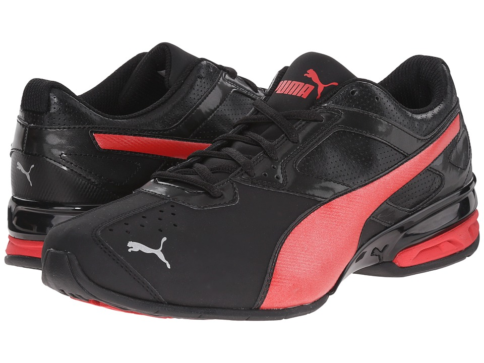 PUMA - Tazon 6 (Black/High Risk Red) Men's Shoes