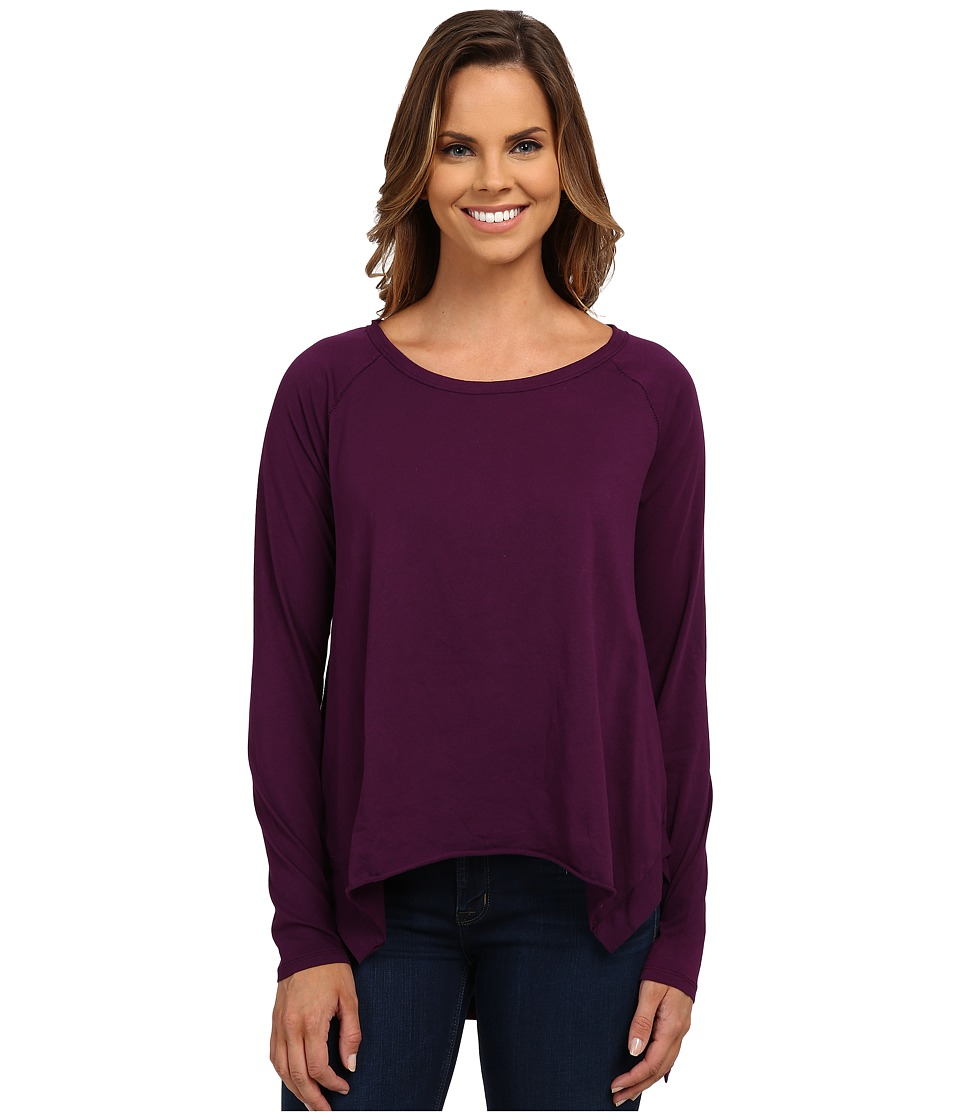 Mod-o-doc - Supreme Jersey Step Hem Raglan Sleeve Tunic (Port) Women's Blouse