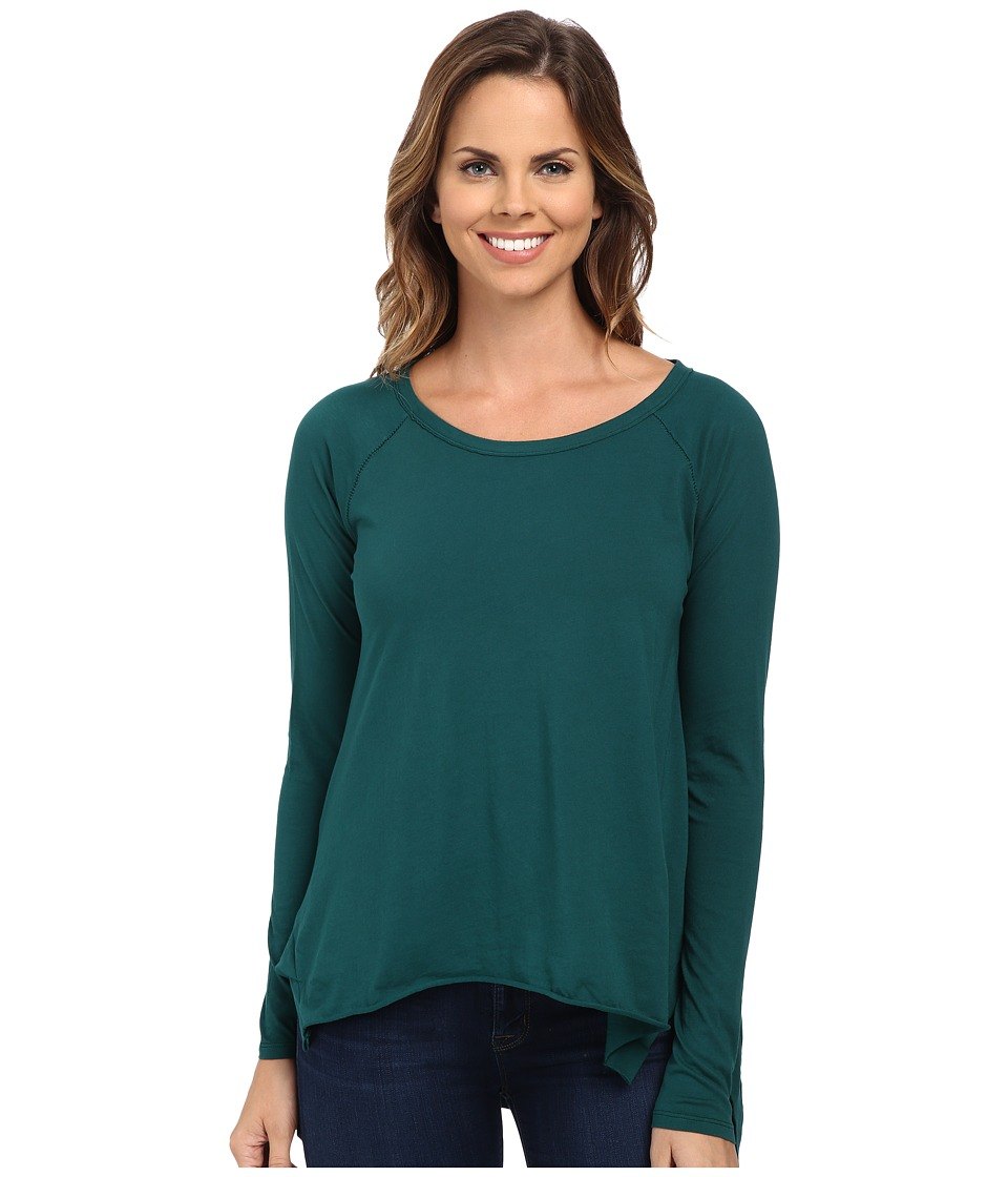 Mod-o-doc - Supreme Jersey Step Hem Raglan Sleeve Tunic (Mallard) Women's Blouse