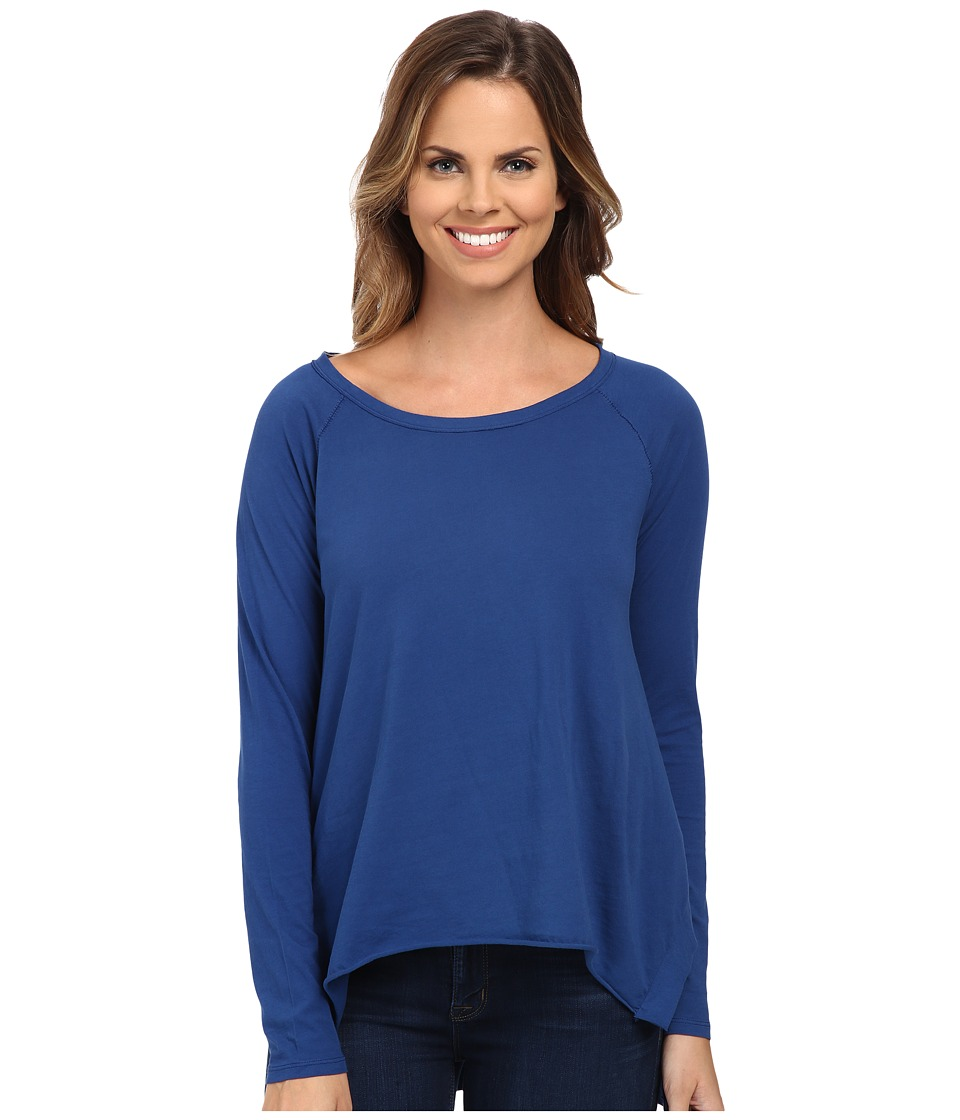 Mod-o-doc - Supreme Jersey Step Hem Raglan Sleeve Tunic (Blueberry) Women's Blouse