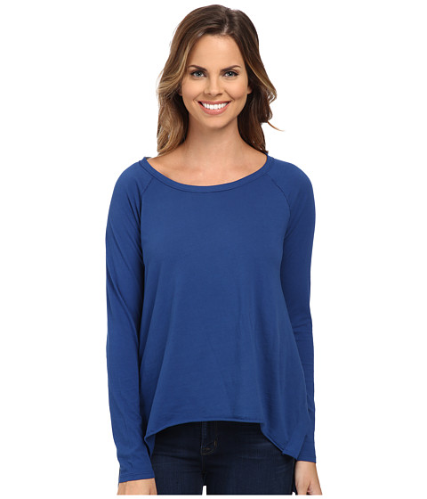 Mod-o-doc - Supreme Jersey Step Hem Raglan Sleeve Tunic (Blueberry) Women