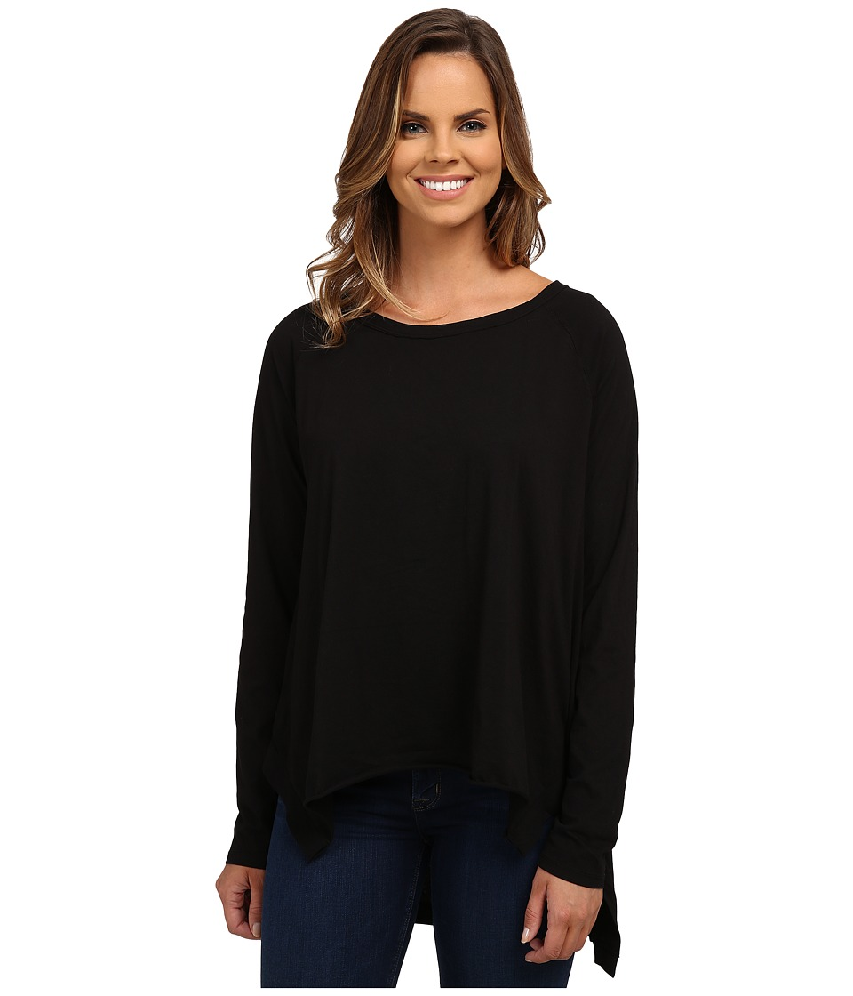 Mod-o-doc - Supreme Jersey Step Hem Raglan Sleeve Tunic (Black) Women's Blouse
