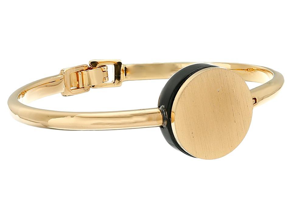 Marc by Marc Jacobs - Cabochon Hinge Cuff Bracelet (Black) Bracelet