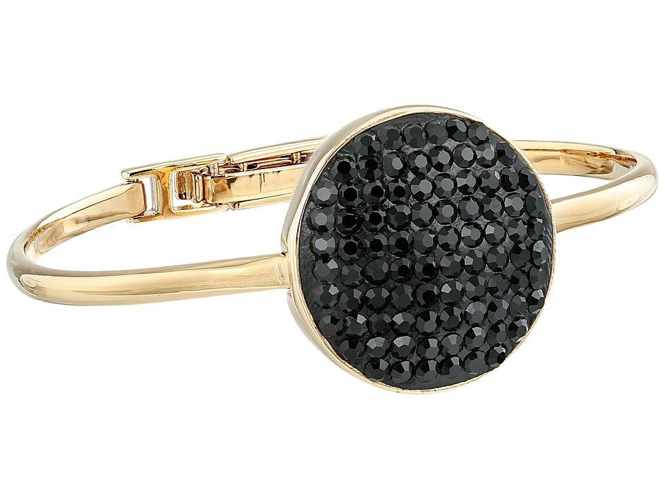 Marc by Marc Jacobs - Pave Disc Hinge Cuff Bracelet (Black) Bracelet