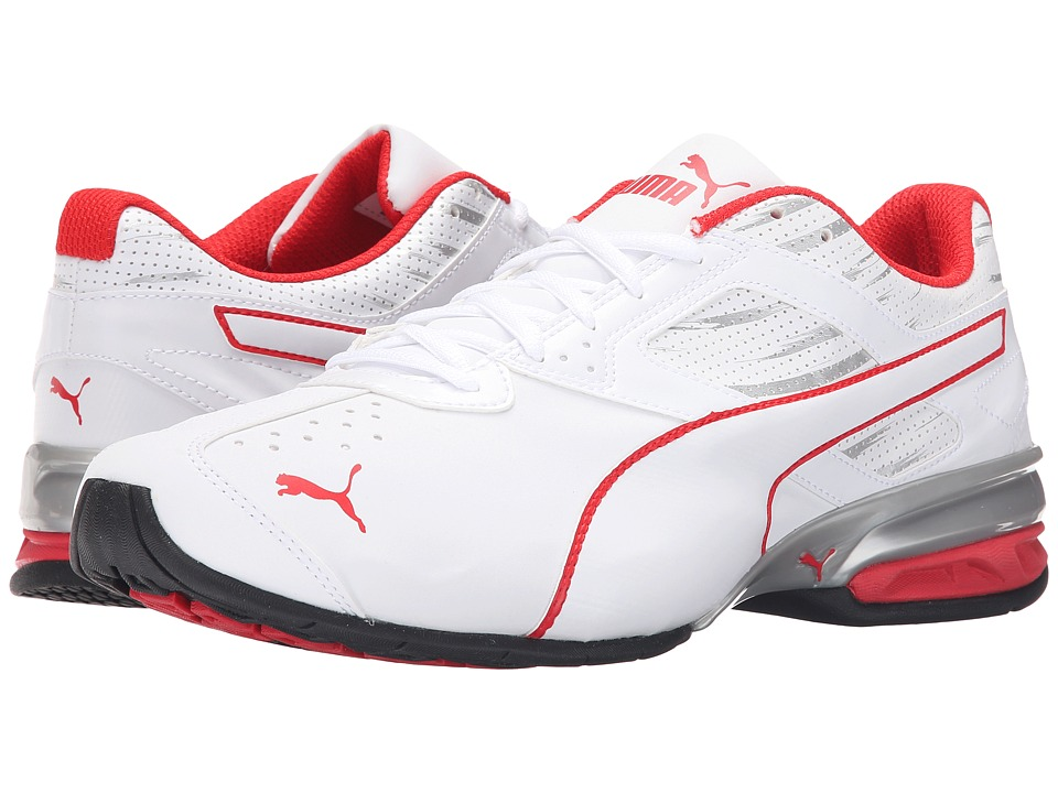 PUMA - Tazon 6 Graphic (White/Puma Silver/High Risk Red) Men's Running Shoes