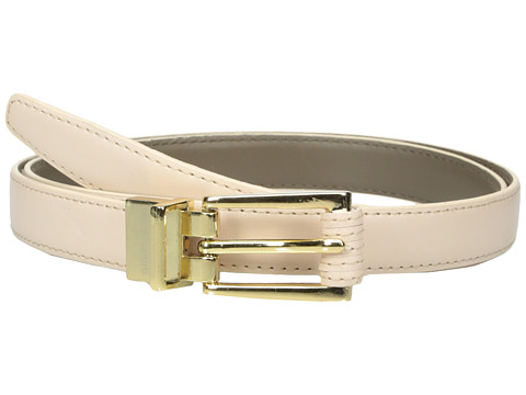 Vince Camuto - 20mm Reversible Belt with Stitched Wrap Roller Buckle (Rose/Chocolate) Women's Belts
