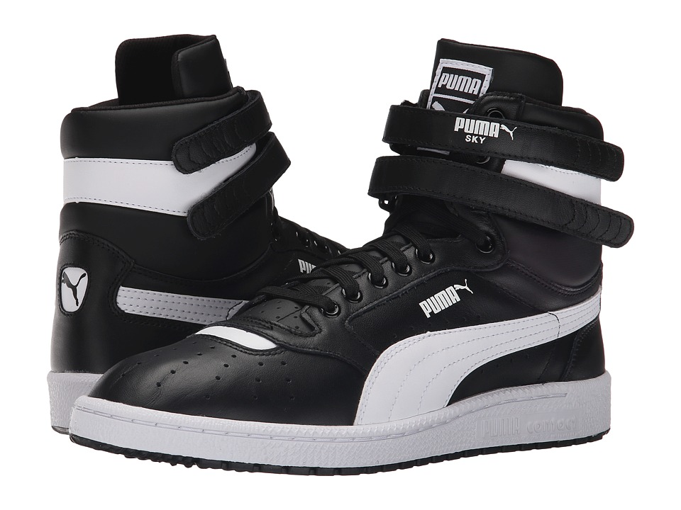 PUMA - Sky II Hi FG (Black/White) Men's Basketball Shoes