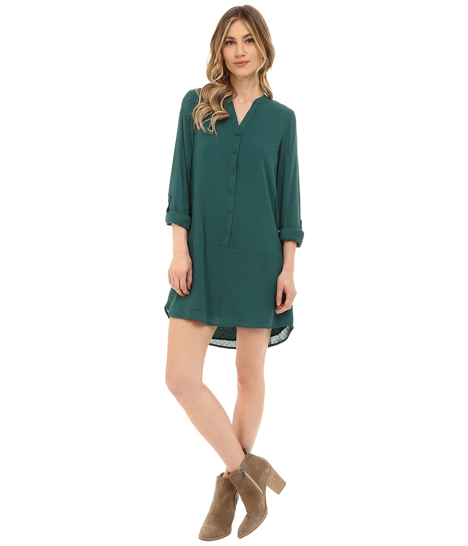 Jack by BB Dakota - Hardy Soft Wover Dobby Dress (Strom Green) Women's Dress
