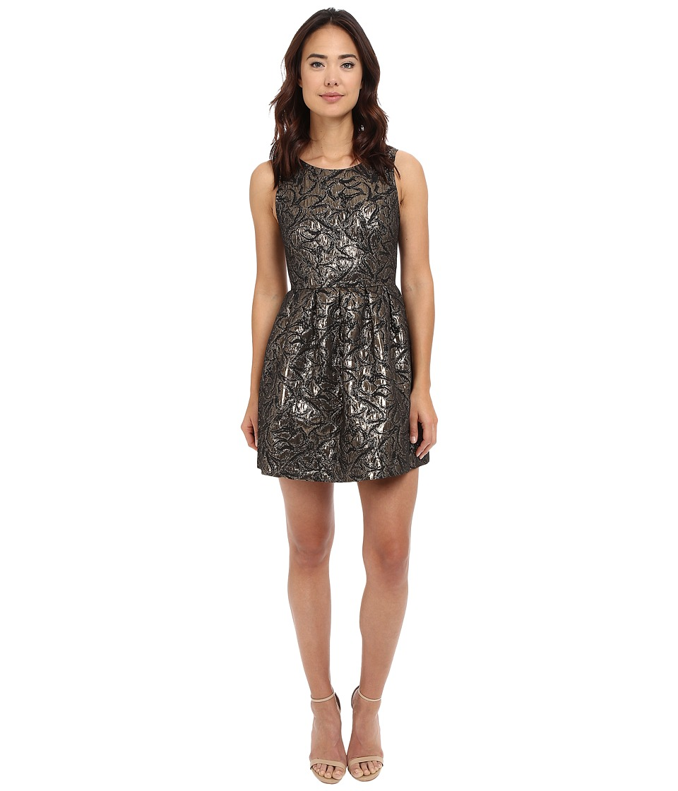 Jack by BB Dakota - Cooper Metallic Brocade Pleated Dress (Multi) Women's Dress