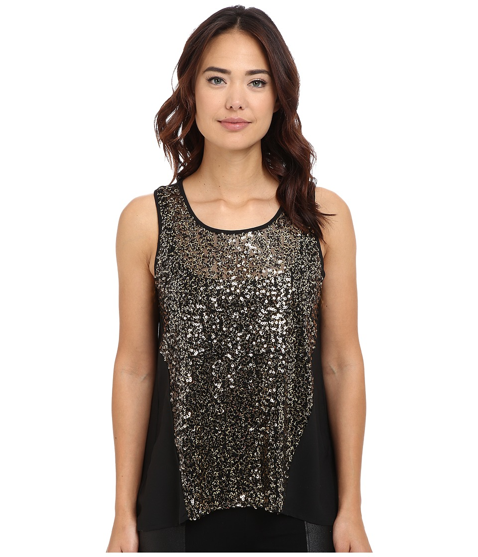 Jack by BB Dakota - Calix Crepe de Chine Sequin Top (Black) Women's Blouse