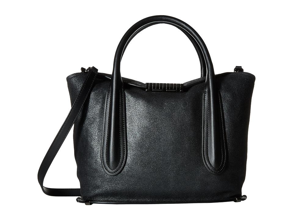 ZAC Zac Posen - Blythe Fold-Over Satchel (Black) Satchel Handbags