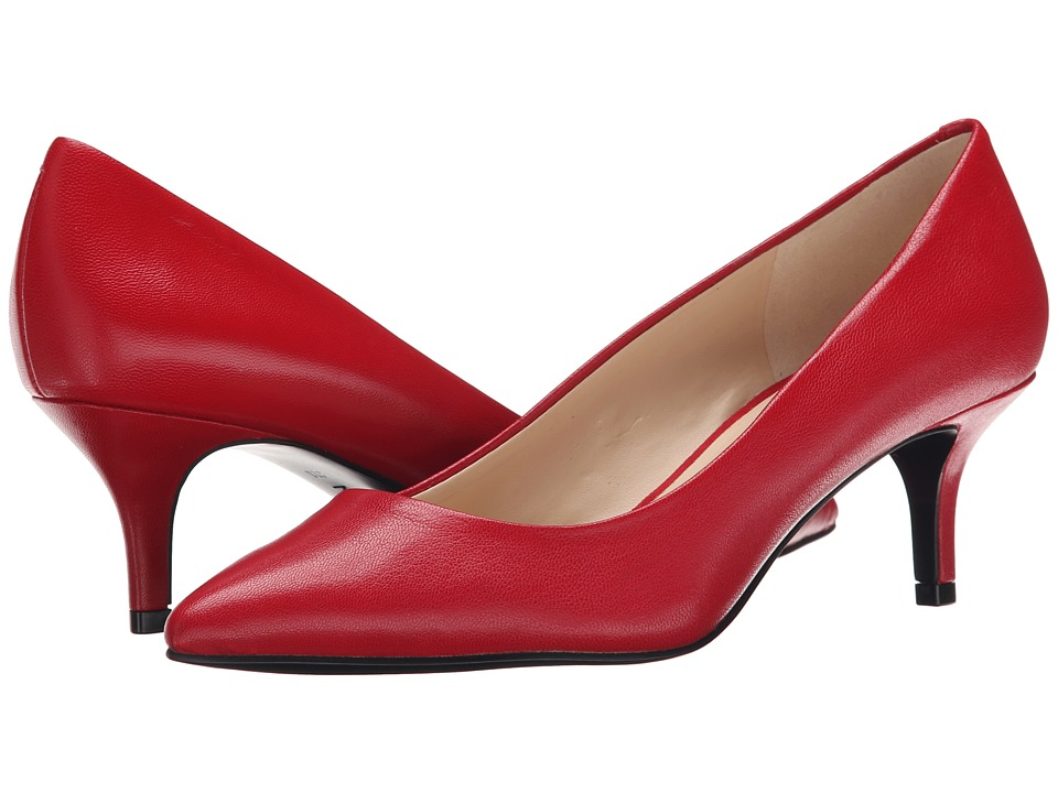 Nine West - Xeena (Red Leather) Women's 1-2 inch heel Shoes