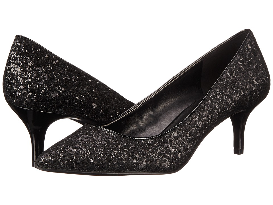 Nine West - Xeena (Black/Black Synthetic) Women's 1-2 inch heel Shoes
