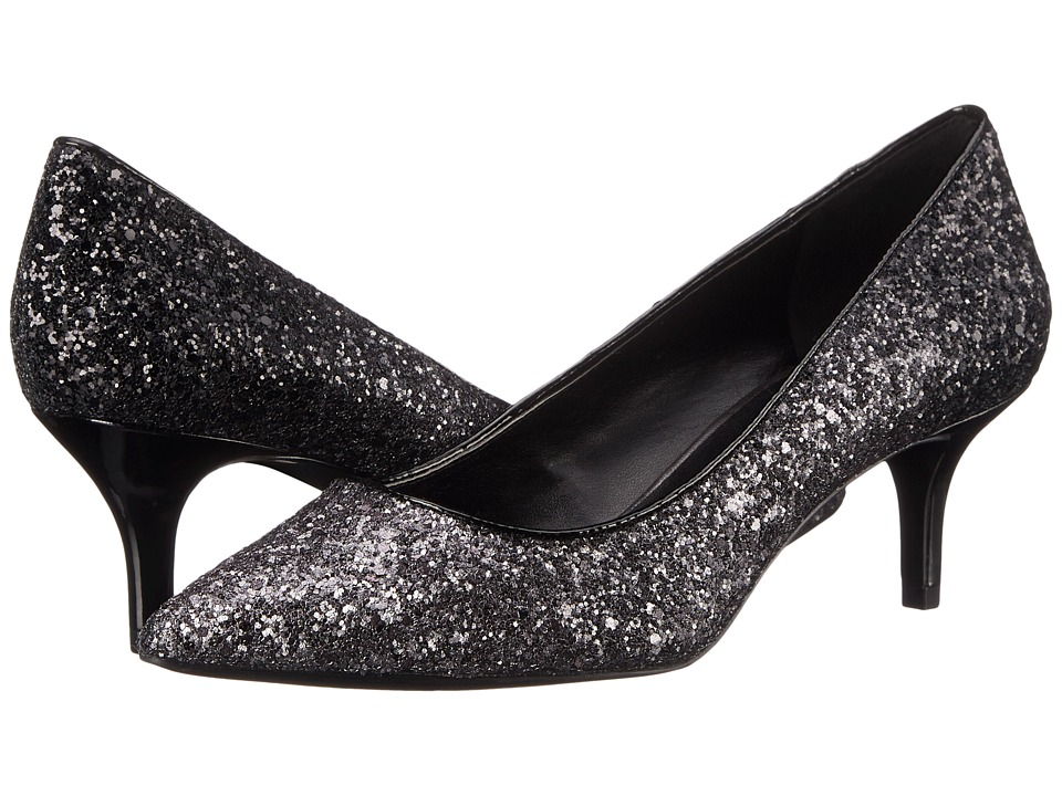 Nine West - Xeena (Pewter/Black Synthetic) Women's 1-2 inch heel Shoes