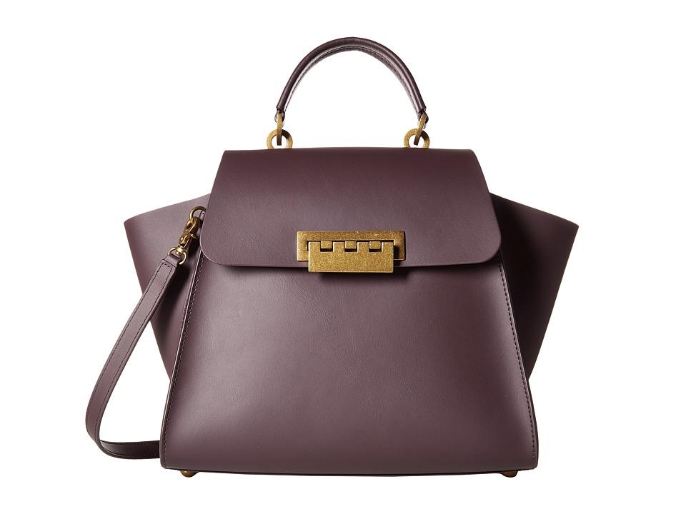 ZAC Zac Posen - Eartha Iconic Top-Handle (Raisin) Satchel Handbags