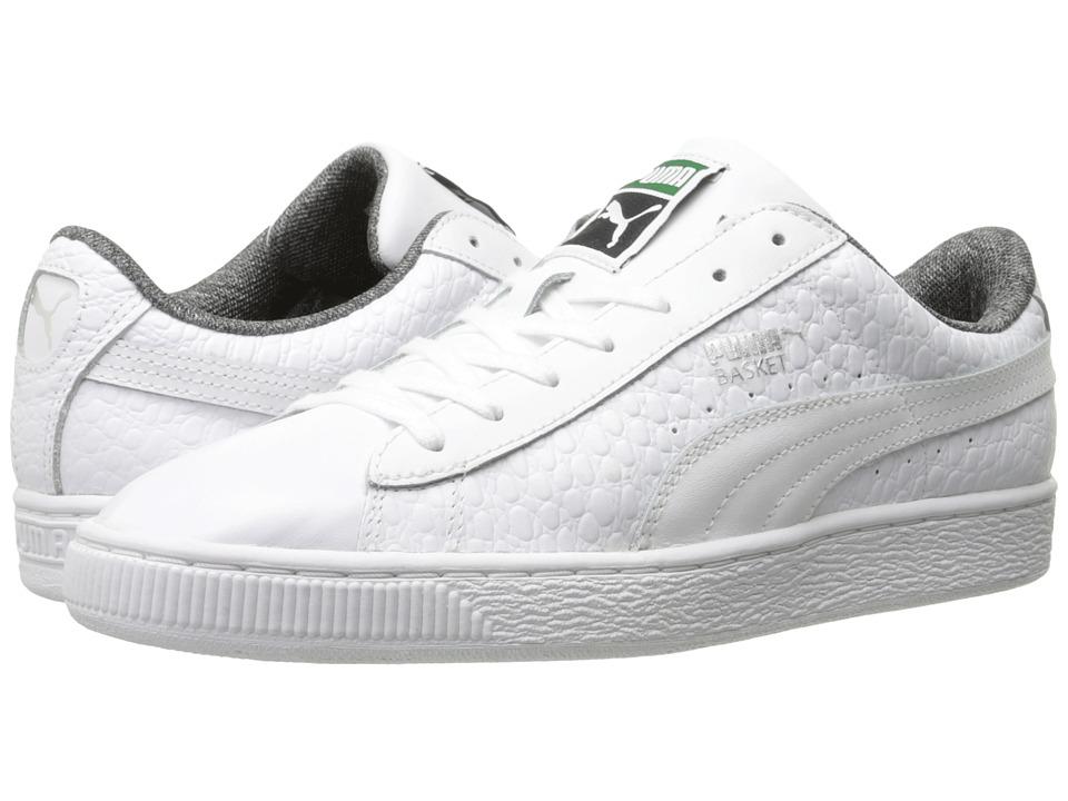 the latest f30b6 a09c2 puma basket classic white sneakers black