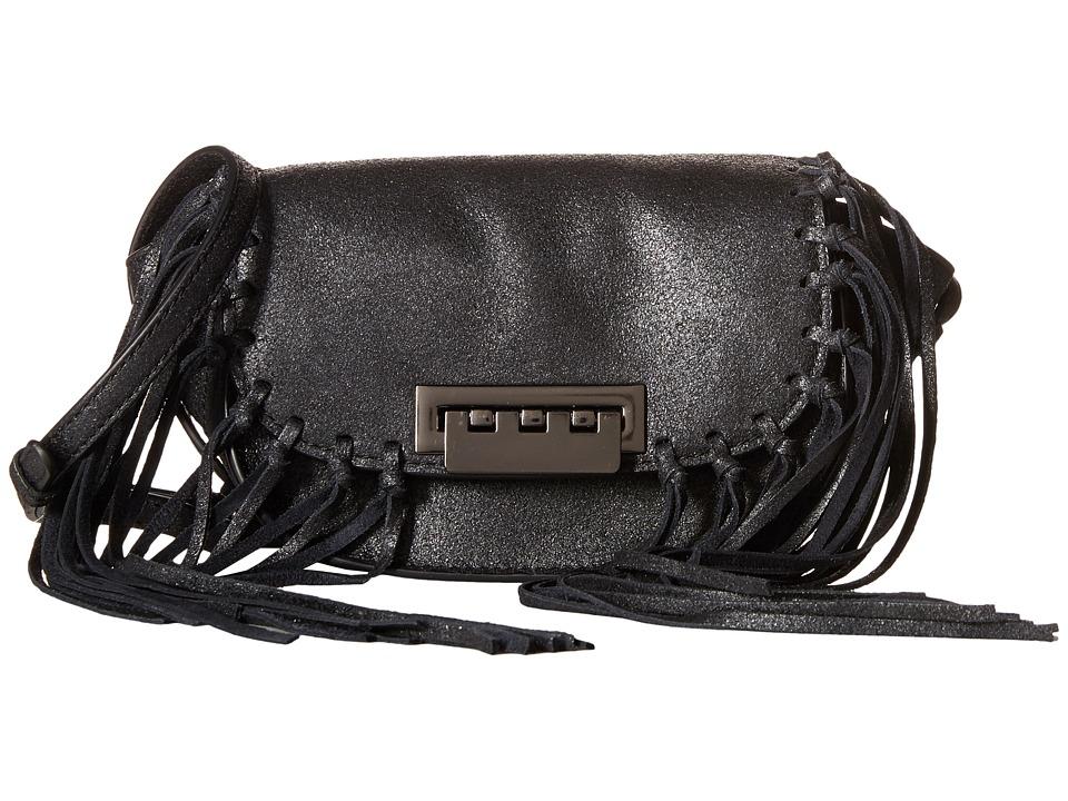 ZAC Zac Posen - Eartha Iconic Micro Accordion Crossbody (Black) Cross Body Handbags