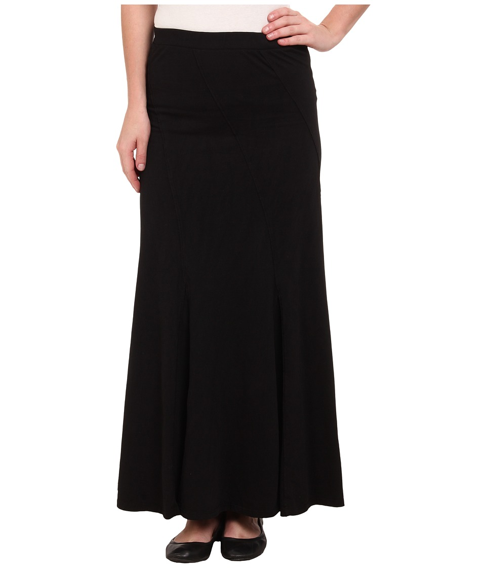Mod-o-doc - Classic Jersey Seamed Godet Maxi Skirt (Black) Women's Skirt