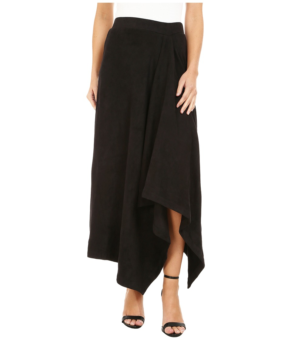 Mod-o-doc - Hi-Low Hem Skirt (Black) Women's Skirt