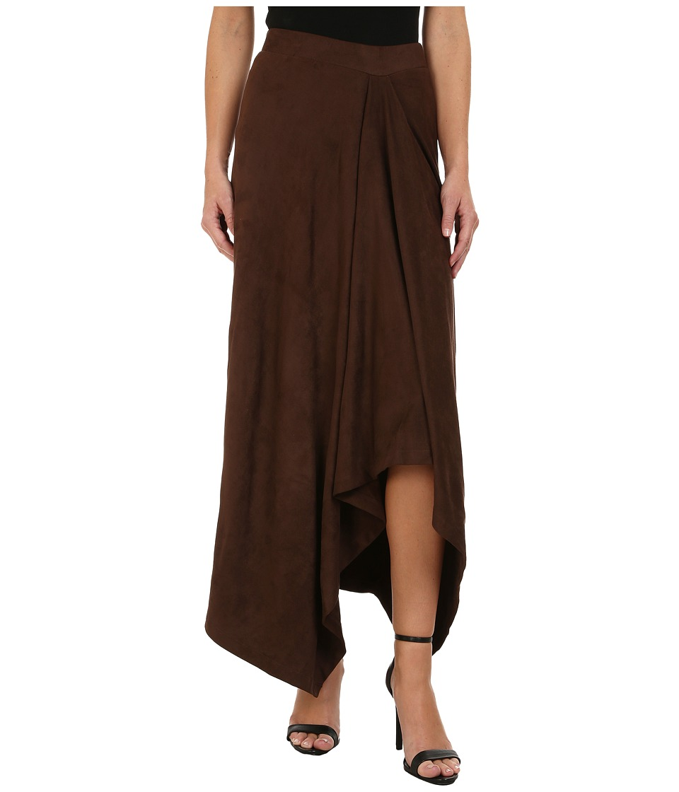 Mod-o-doc - Hi-Low Hem Skirt (Brown) Women's Skirt