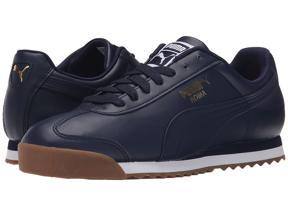 PUMA - Roma Basic (Peacoat/Peacoat/Gum) Men's Shoes