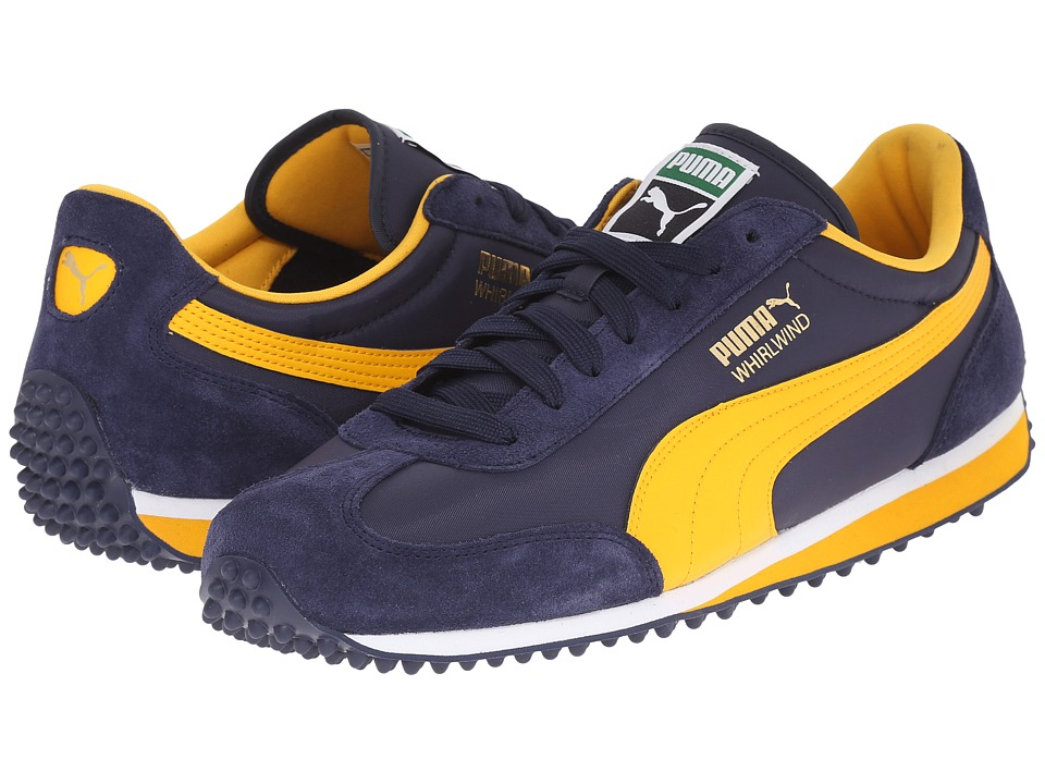 PUMA - Whirlwind Classic (Peacoat/Gold Fusion/White) Men's Lace up casual Shoes