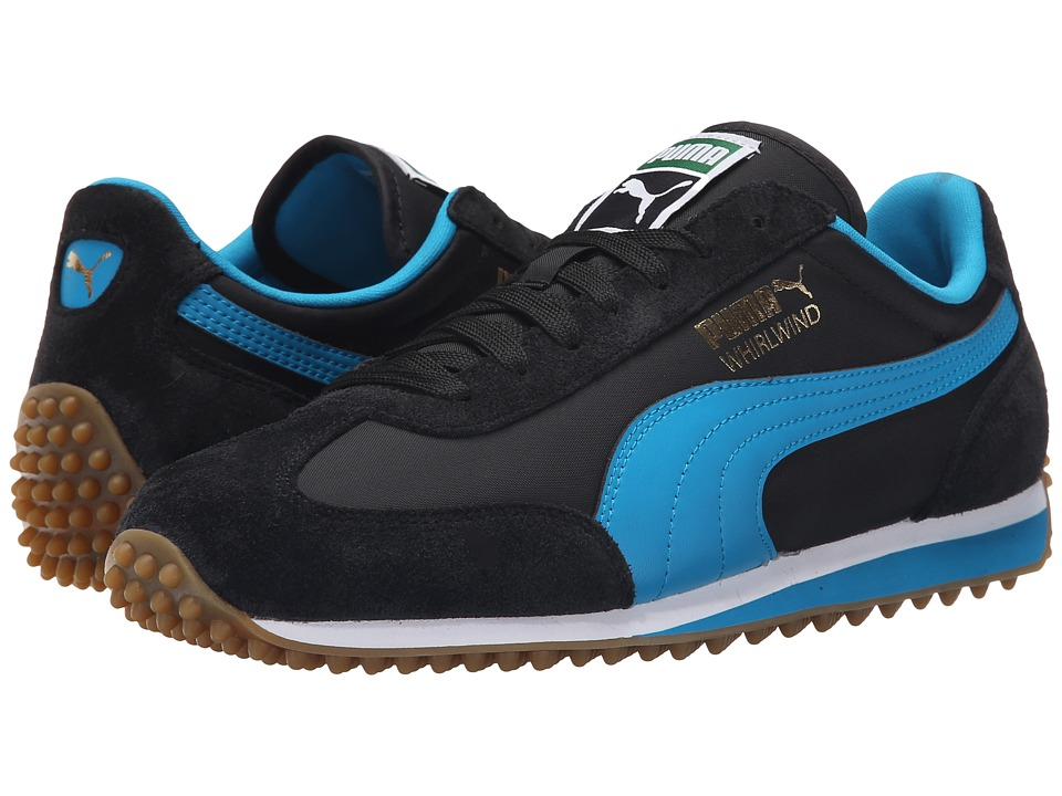 PUMA - Whirlwind Classic (Black/Blue Jewel/White) Men's Lace up casual Shoes