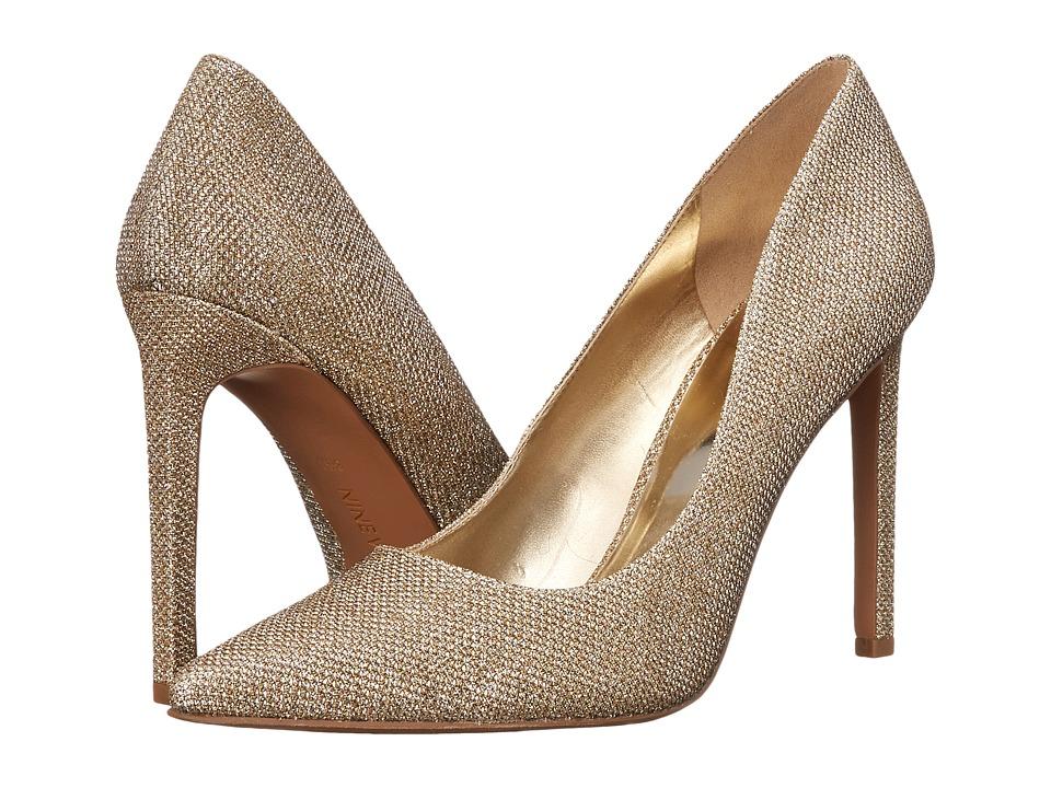 Nine West - Tatiana (Gold Fabric 1) High Heels