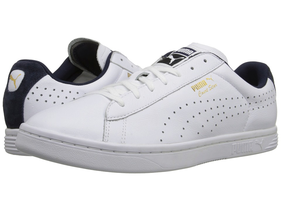 PUMA - Court Star Crafted (White/Peacoat) Men's Tennis Shoes