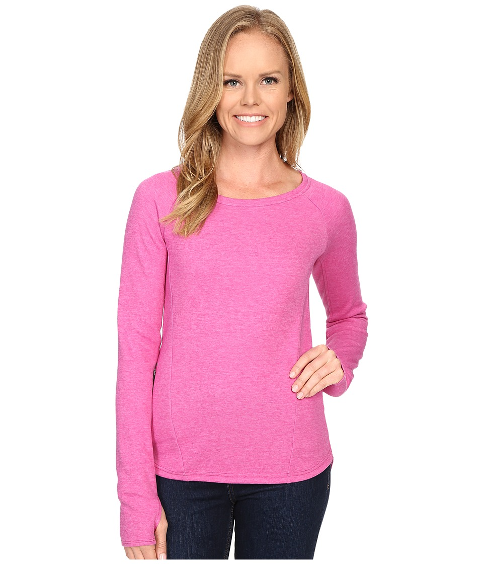 The North Face - Slacker Pullover (Fuchsia Pink Heather) Women's Long Sleeve Pullover