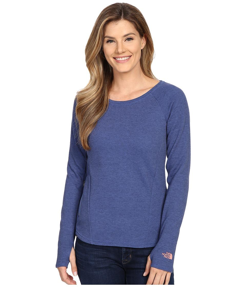 The North Face - Slacker Pullover (Coastline Blue Heather) Women's Long Sleeve Pullover