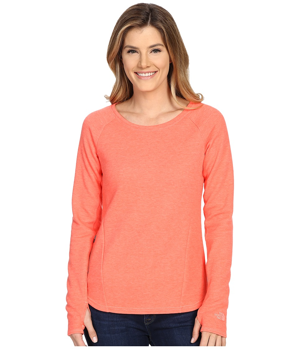 The North Face - Slacker Pullover (Radiant Orange Heather) Women's Long Sleeve Pullover