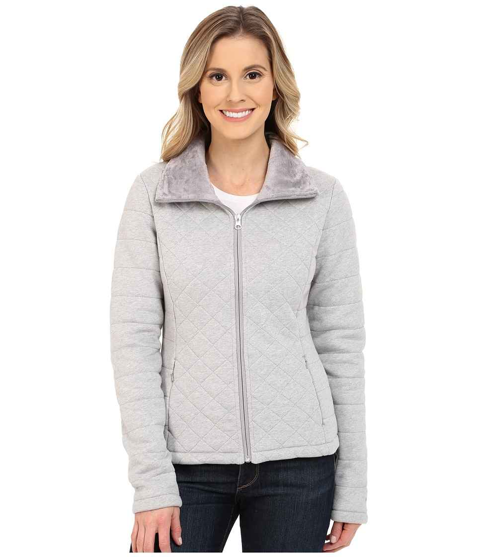 The North Face - Caroluna Crop Jacket (Heather Grey) Women's Coat