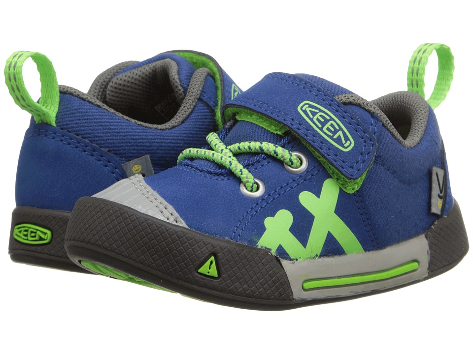 Keen Kids - Encanto (Toddler) (True Blue/Jasmine Green) Boy's Shoes