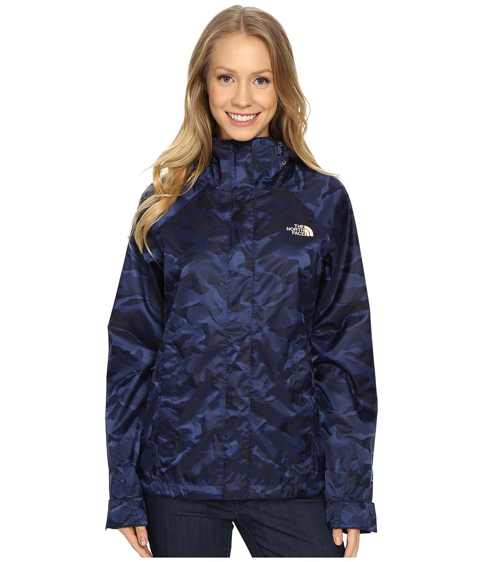 The North Face - Novelty Venture Jacket (Patriot Blue Camo) Women's Coat