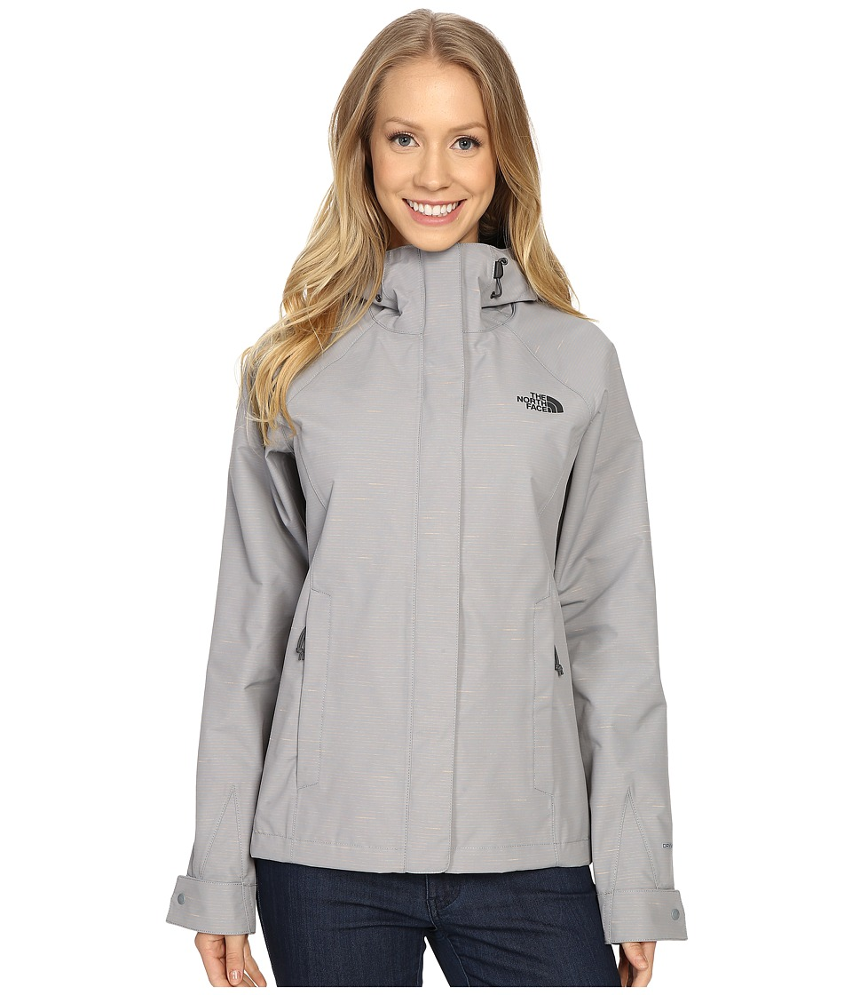 The North Face - Novelty Venture Jacket (Mid Grey Stripe) Women's Coat