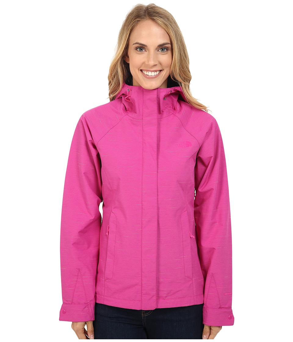 The North Face - Novelty Venture Jacket (Fuchsia Pink Stripe) Women's Coat