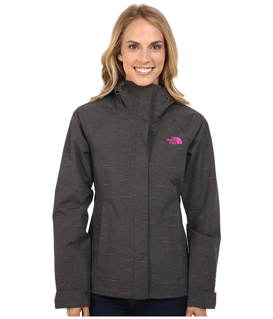 The North Face - Novelty Venture Jacket (Asphalt Grey Stripe) Women's Coat