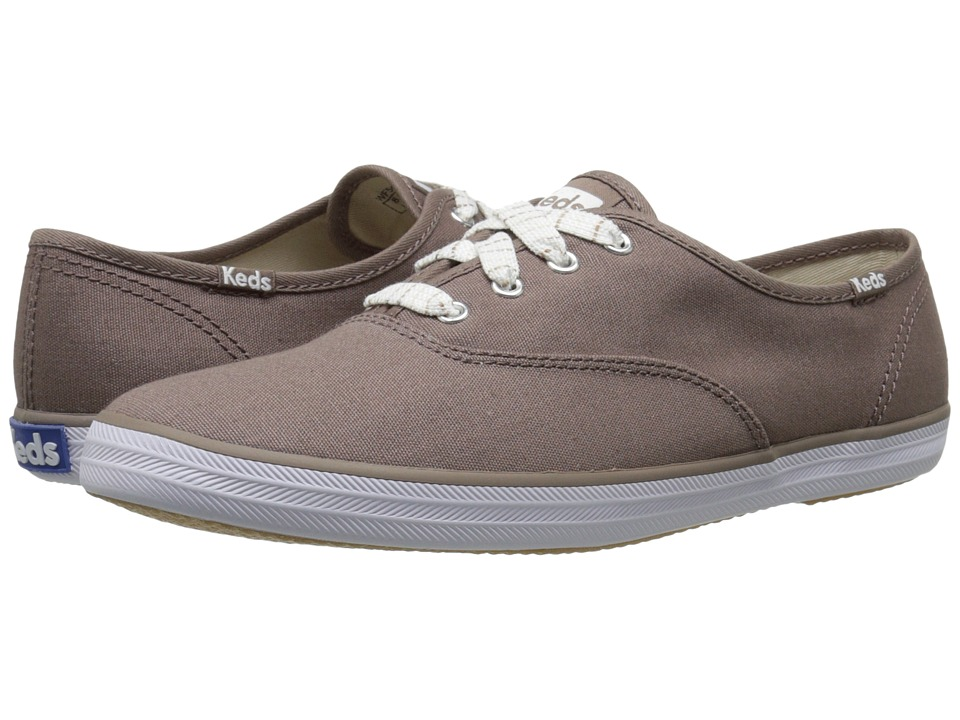 Keds Champion Seasonal Solids (Deep Taupe) Women