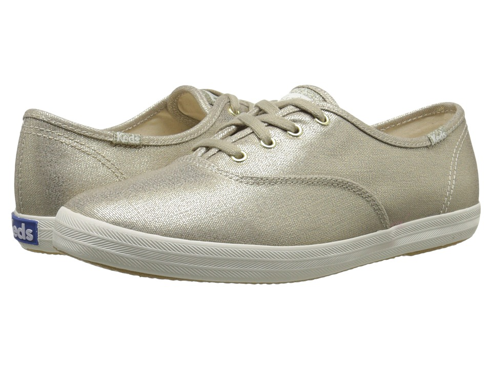 Keds - Champion Metallic Canvas (Gold) Women's Lace up casual Shoes