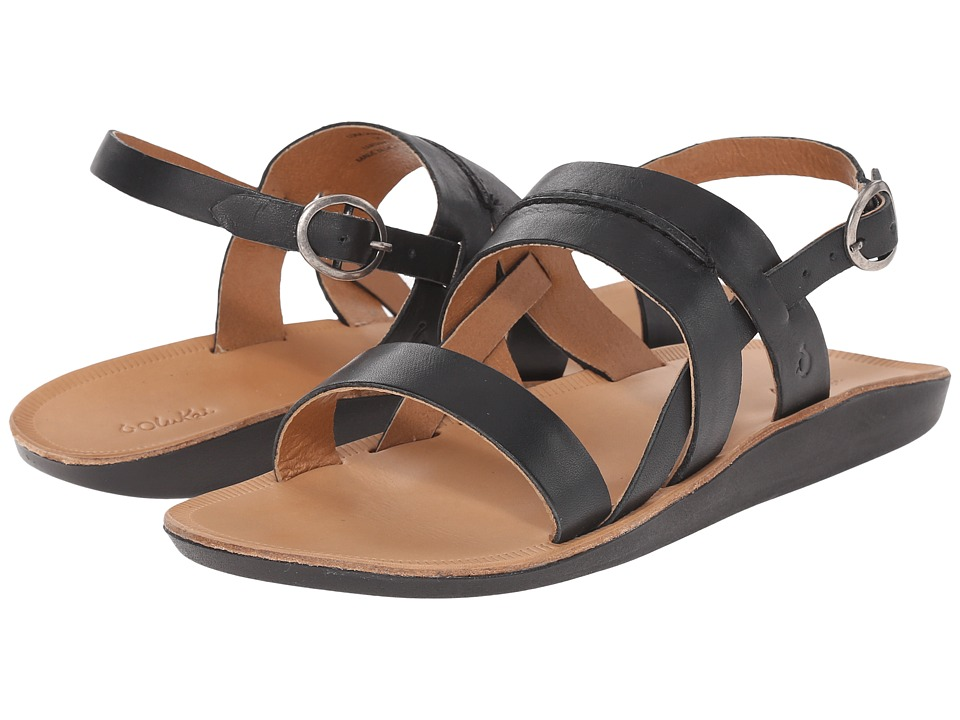 OluKai - Loea Sandal (Black/Black) Women's Sandals