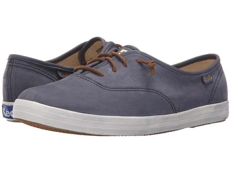 Keds - Champion Washed Leather (Navy) Women's Lace up casual Shoes