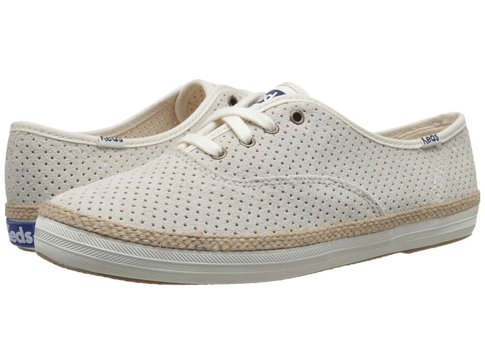 Keds - Champion Perf Suede w/ Jute (Birch) Women's Lace up casual Shoes